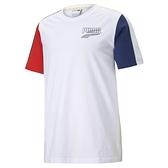 PUMA 男款白紅藍三色流行系列Decor8撞色短袖T恤-NO.53108402