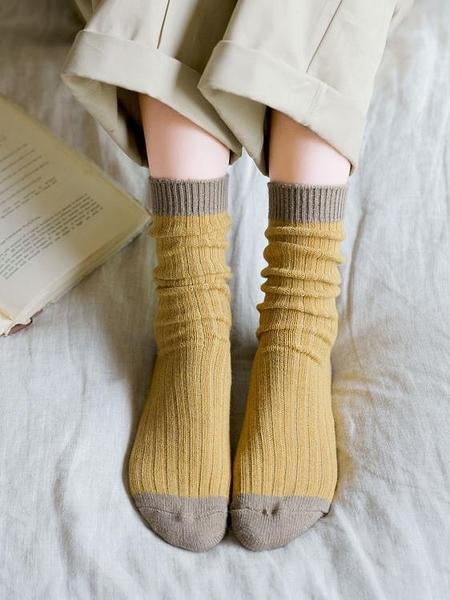 女襪 春中筒襪純棉保暖高幫韓國日系長筒襪子高筒襪長款百搭【快速出貨八折下殺】