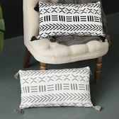ins北歐風沙發裝飾靠墊 針織全棉腰枕靠枕