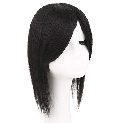 假髮(真髮)-仿真自然短直髮20cm女假髮2色73uh45【時尚巴黎】
