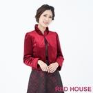 【RED HOUSE 蕾赫斯】立領絨布外...