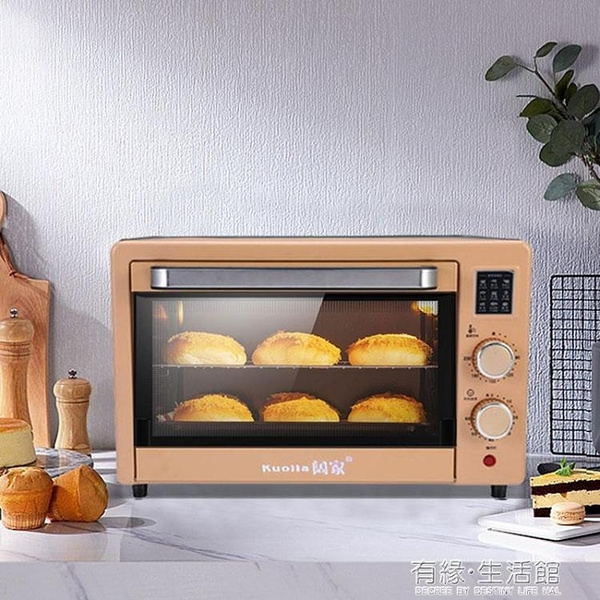 烤箱 電烤箱家用烘焙小型烤箱多功能全自動蛋糕迷你大容量干果機 AQ 有緣生活館
