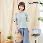 【Tiara Tiara】百貨同步新品aw  檸檬刺繡圓領上衣(白/深藍/黃)
