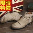 短靴機車靴品味帥氣-質感真皮革復古做舊男牛仔靴3色65h7【巴黎精品】