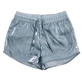 Nike 短褲 短褲 NSW Air Shorts 灰藍 女款 膝上 光澤感 運動休閒 【ACS】 CU5521-031