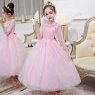 公主裙女童連衣裙蓬蓬紗中大童小主持鋼琴演出服兒童高端禮服洋氣