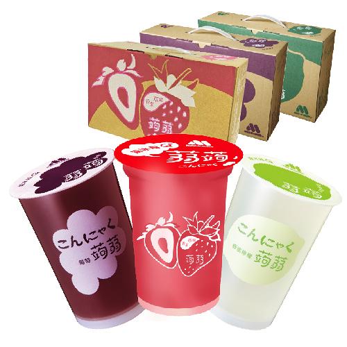 (免運)MOS摩斯漢堡 明星商品-葡萄/檸檬/草莓蒟蒻(三種口味任選)(15杯/箱)