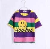 2020年新款韓版女童夏裝短袖t恤中大童時尚洋氣純棉上衣兒童裝潮 滿天星
