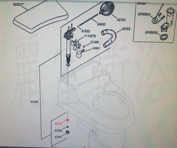 【麗室衛浴】美國KOHLER K-3397 馬桶水箱零件目錄