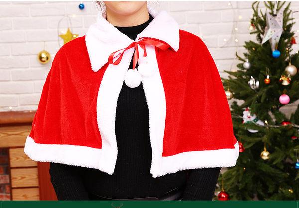 大人聖誕披肩+帽 聖誕服聖誕節聖誕老公公服裝女孩聖誕裙聖誕帽聖披肩聖誕樹聖誕燈