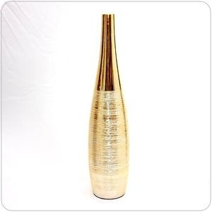 HONEY COMB 陶瓷鍍金髮絲紋花器 FB286