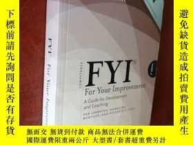 二手書博民逛書店FYI:For罕見Your Improvement - For Learners, Managers, Mento