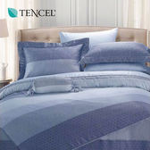 天絲 Tencel 麻趣生活 藍 床罩 加大七件組 100%雙面純天絲