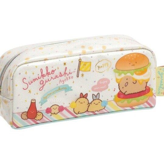 小禮堂 角落生物 防水拉鍊筆袋 鉛筆盒 鉛筆袋 (綠棕 漢堡) 4974413-76076