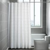 加厚浴簾套裝免打孔伸縮弧形浴簾桿隔斷簾子防水衛生間浴室掛簾布 夏日新品