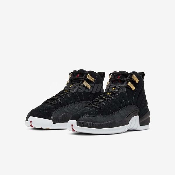 Nike Air Jordan 12 Retro BG Reverse Taxi 黑 白 計程車 大童鞋 女鞋 喬丹 【PUMP306】 153265-017