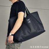 男士行李袋手提短途旅行包大容量行李包尼龍防水旅行袋休閒旅游包 漾美眉韓衣