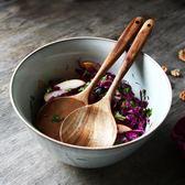 木勺 柚木長柄攪拌勺子 杓子