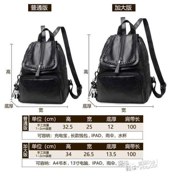 後背包 後背包女2021新款潮韓版百搭時尚軟皮女士小背包女學生書包女包包 618促銷