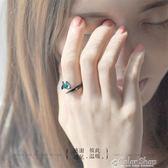 花芽原創荊棘情侶對戒純銀戒指一對日韓男女潮人個性開口尾戒禮物color shop