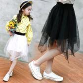女童短裙新款韓版女孩裙子兒童半身裙中大女童紗裙潮 【販衣小築】