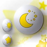 小夜燈 韓國LAMPDA品牌圓形星星月亮太陽卡通兒童房壁燈臥室床頭夜燈熱賣
