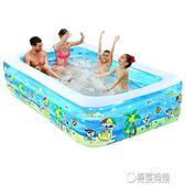 泳池 諾澳嬰兒童充氣游泳池家庭超大型海洋球池加厚家用大號成人戲水池 草莓妞妞