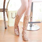 夏季高筒碎花時尚雨鞋女雨靴水鞋套鞋 新款韓版雨膠鞋水靴女『韓女王』