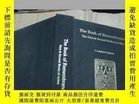 二手書博民逛書店The罕見Book of Remembrance The Fir