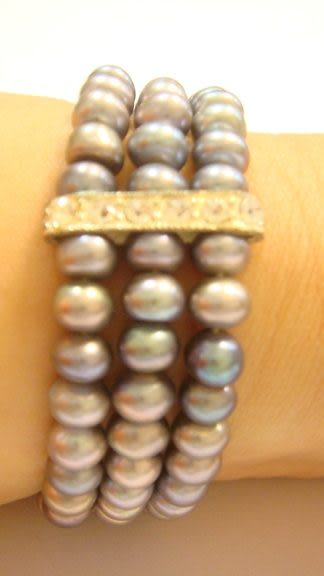 珍珠手環Sabrina C. ( 深紫羅蘭 )