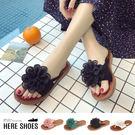 [Here Shoes]拖鞋-跟高2cm...