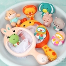 寶寶洗澡噴水撈魚撈網戲水捏捏樂漂浮兒童玩水游泳館男孩女孩玩具 小時光生活館