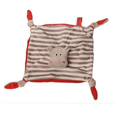 法國 Doudou 安撫巾-紅點點小河馬 30cm【Les Petites Marie】