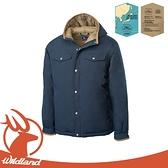 【Wildland 荒野 男 鵝絨防潑水極暖外套《深霧灰》】OA62998/羽絨外套/連帽羽絨衣/夾克