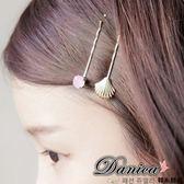 髮夾 現貨  韓國熱賣氣質甜美百搭 貝殼水鑽2件組 髮夾(2色) S7490 Danica 韓系飾品 韓國連線