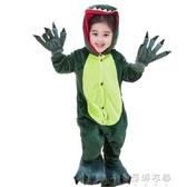 睡衣動物卡通兒童恐龍皮卡丘連身睡衣男女小孩寶寶親子裝配爪子鞋 蓓娜衣都