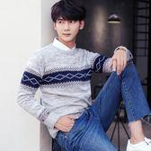 男士毛衣冬季毛衣男韓版潮流 上衣男裝套頭打底衫 修身薄款圓領寬松針織衫