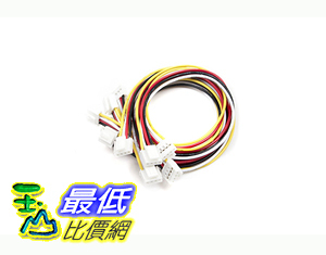 [106美國直購] 電纜線 Seeedstudio Grove - Universal 4 Pin Buckled 20cm Cable (5 PCs pack)