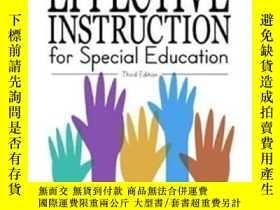 二手書博民逛書店Effective罕見Instruction For Special Education (3rd Edition