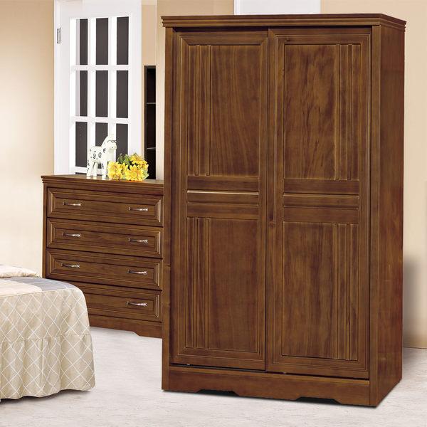 衣櫥【時尚屋】[UZ6]楓芝林4x7尺樟木實木推門衣櫥UZ6-26-8免運費/免組裝/台灣製/櫥櫃