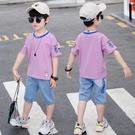 男童裝夏裝年新款套裝中大童兒童夏天衣服男孩帥氣夏季短袖潮 快速出貨
