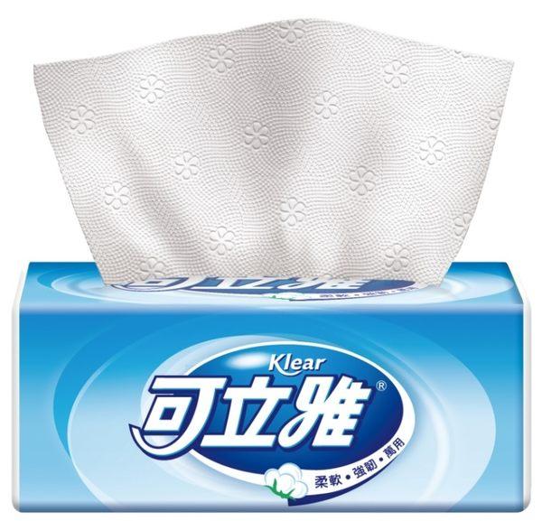 可立雅淨韌抽取衛生紙90+12抽(10包x10串/箱)【艾保康】
