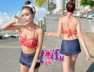 ★草魚妹★C52奧黛麗赫本點點顯身材二件式游泳衣泳裝比基尼,售價890元