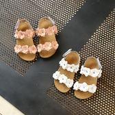 女童涼鞋 夏季2018新款寶寶兒童韓版平底花朵公主防滑鞋 LR815