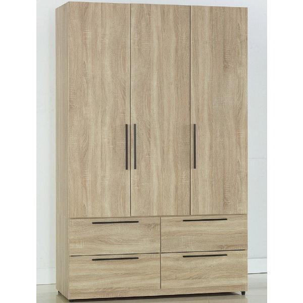 衣櫃 衣櫥 SB-552-2 凱文4X7尺梧桐四抽衣櫃【大眾家居舘】