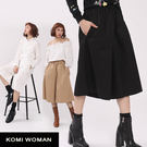 【KOMI】素面純棉鬆緊口袋褲裙 (1715-708831)