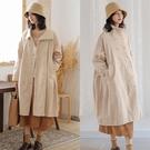 訂製純棉燈芯絨風衣外套有內襯/設計家 F91049