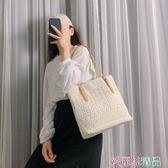 托特包側背包包女2020夏季新款韓版托特女包大容量手提包百搭蕾絲帆布包 愛麗絲