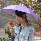 雙層防風防雨釣魚傘帽頭戴式雨傘jy防曬折疊頭頂雨傘帽戶外遮陽垂釣【全館88折起】
