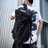 背包男士潮流大容量時尚潮流工裝後背包韓版高中學生書包女旅行包